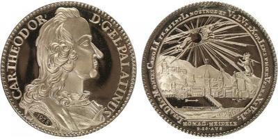 Medaile 1978 - kopie stříbrné medaile Karla I., 34 mm, (14,07 g), etue, PROOF