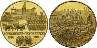 AR Medaile 2003 - Oktoberfest 1810 - 2003, pozlacene Ag 0,999, 40 mm (33,50 g)