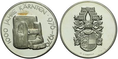 AR Medaile 1976 - 100 let Korutan, Ag 0,925, 36 mm (19,27 g)