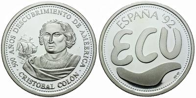 AR Medaile 1992 - 500 let od objevení Ameriky, Ag 0,999, 40 mm (19,8 g), PROOF