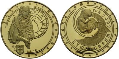 AR Medaile 2000 (R. Lugár) - Bimilénium - rok 2000, Pozlac. Ag 0,999, 40 mm (32 g), n