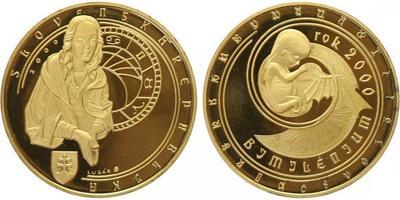 AR Medaile 2000 (R. Lugár) - Bimilénium - rok 2000, Pozlac. Ag 0,999, 40 mm (32 g), č