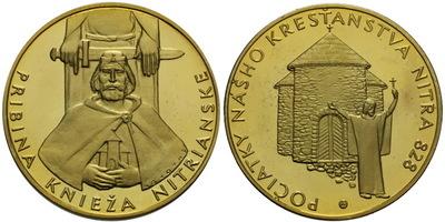 AR Medaile b.l. (Š. Novotný) - Kníže Pribina, PROOF