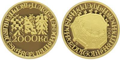 2000 Kč 2002 - Pozdní Gotika - Kašna v Kutné Hoře, etue, BEZ certifikátu, PROOF