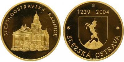 Medaile 2004 - Slezskoostravská radice, Au 0,986, 35 mm (14,3 g), číslo 15, kapsle, e