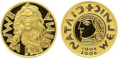 Medaile 2006 - Královna Emma, Au 0,9999, 19 mm (3,49 g), kapsle, PROOF
