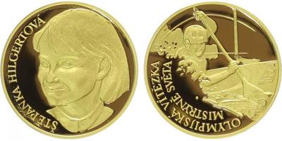 Medaile 2007 - Štěpánka Hilgertová - mistryně světa a olympijská vítězka, Au 0,9999,