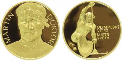Medaile 2007 - Martin Doktor - mistr světa a olympijský vítěz, Au 0,9999, 22 mm (7,78