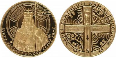 Medaile 2013 - Svatováclavský 5 dukát, Au 0,986, 34 mm (17,455 g), číslo 20, číslován