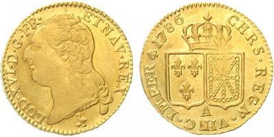 Francie, Louis d`or 1786 A, mincovna Paříž, Au 0,917