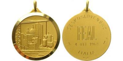 Itálie, Medaile 1968 - Záslužná vědecká medaile udělená českému vědci A. Kubátovi
