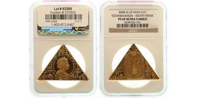 Man, Koruna 2008 - Egyptský motiv, Au 0,999, 45 x 40 x 40 mm (31,1 g), PROOF