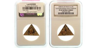 Man, 1/5 Koruny 2008 - Egyptský motiv, Au 0,999, 29 x 14 x 14 mm (6,22 g), PROOF