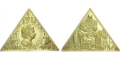 Man, 1/5 Koruny b.l. Ažběta II. / Egyptský motiv, Au 0,999, 29 x 14 x 14 mm (6,22 g), PROOF