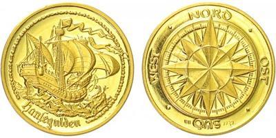 AR medaile b.l. - Hanzovní gulden, Au 0,999, 20 mm (3,07 g), PROOF