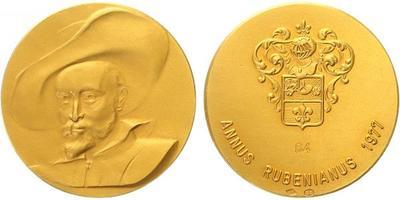 Nizozemí, medaile 1977 - P. Rubens, Au 0,900, 30 mm
