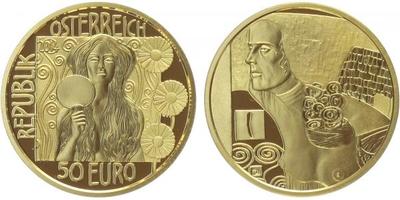 50 Euro 2014 - Judita II. Au 0,986, 22 mm (10,14 g), etue, přebal, PROOF