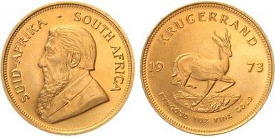Jihoafrická republika, Krugerrand 1973, Au 0,917 (33,9305 g)