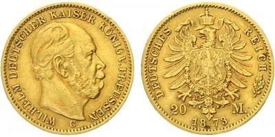 20 Marka 1873 C, Au 0,900 (7,965 g), hr.