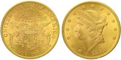20 Dollar 1895, Au 0,900 (33,436 g)