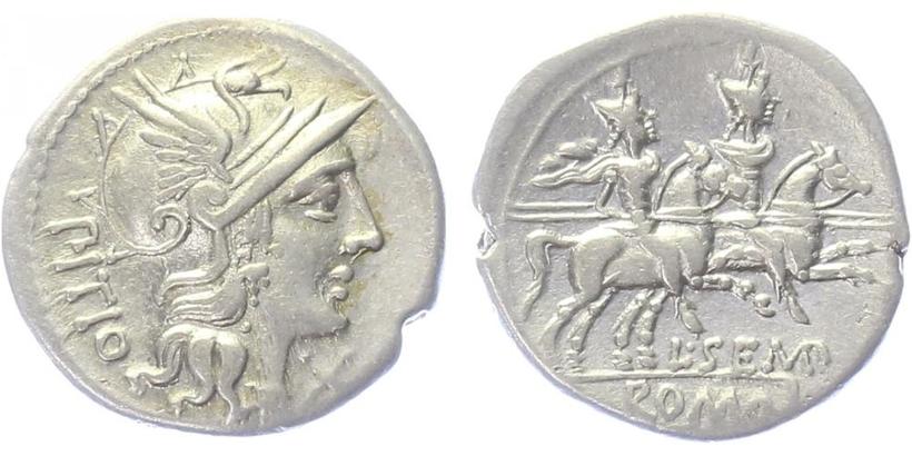L. Sempronius Pitio - Denár, A.854