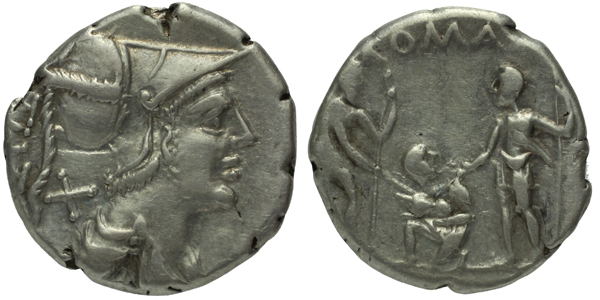 Ti. Veturius - Denár, A. 897