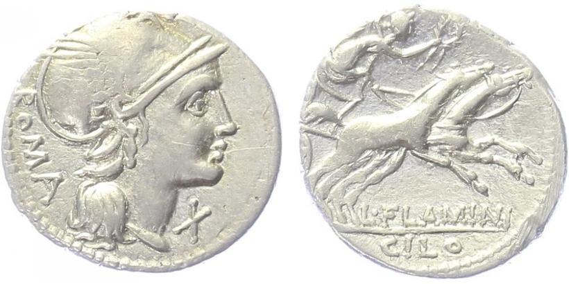 L. Flaminius Chilo - Denár, A.1093