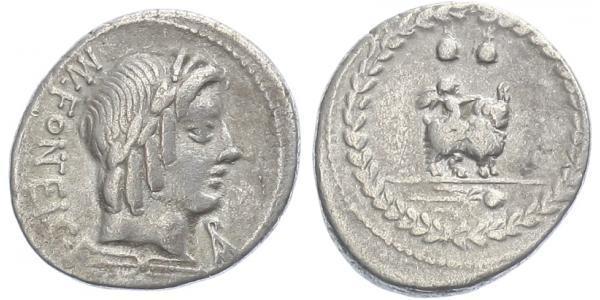 Mn. Fonteius C. f. - Denár, A.1232