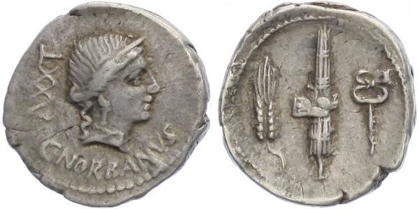 C. Norbanus - Denár, Alb.1243