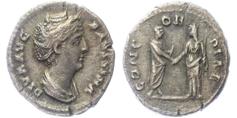 Faustina - Denár, RIC.394a