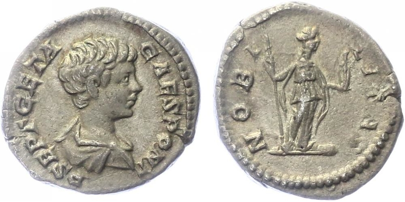Geta, jako Caesar - Denár, RIC.13a