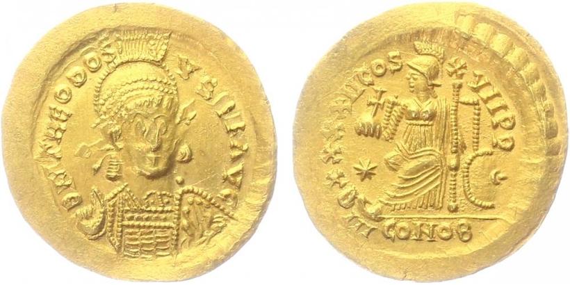 Theodosius II., - Solidus, RIC.282