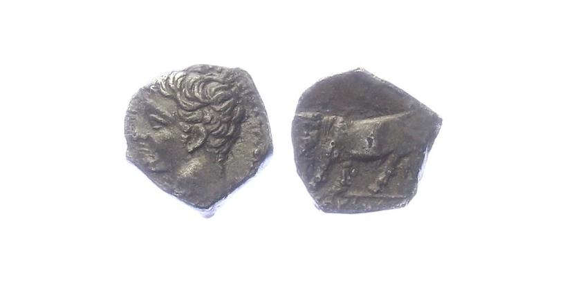 Sicílie, Pamnormos - Obol, SG.889