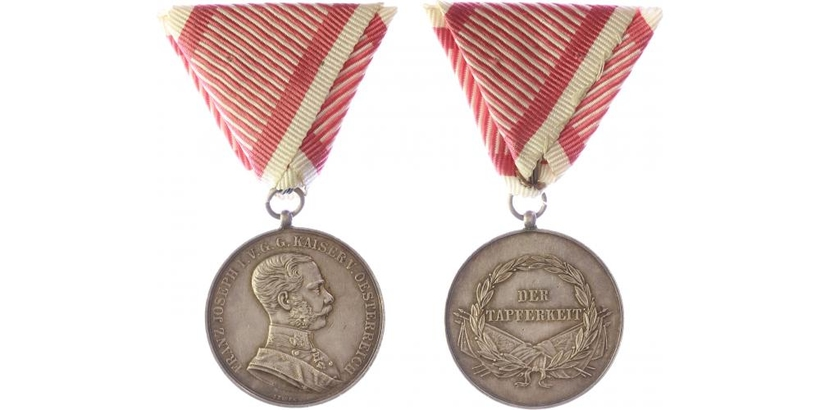 Medaile za statečnost, stříbrná medaile, I. třída