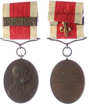 Jubilejní dvorní medaile, bronzová medaile na civilní stuze