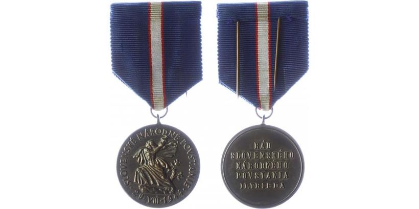 Řád Slovenského národního povstání, II. třída, bronz postříbřená