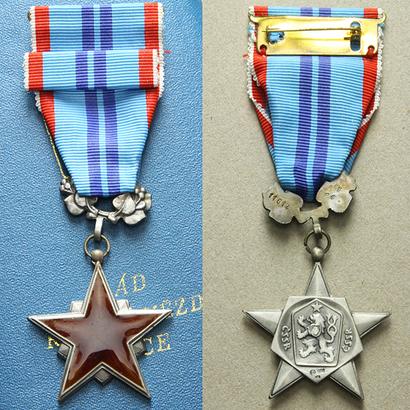 Řád rudé hvězdy práce, II. vydání, stříbro, punc., mincovna Kremnica, VM