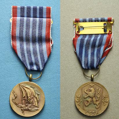 Medaile Za pracovní obětavost, II. vydání, VM.48-II, stužka, pův. etue