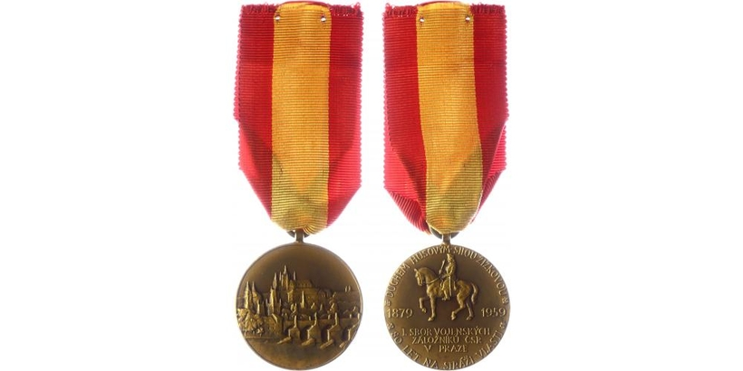 Pamětní medaile I. sboru vojenských záložníků ČSR v Praze z roku 1959
