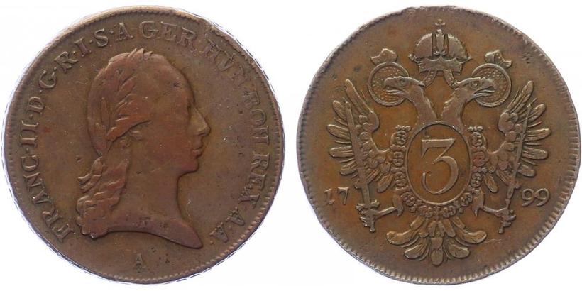 3 krejcar 1799 A