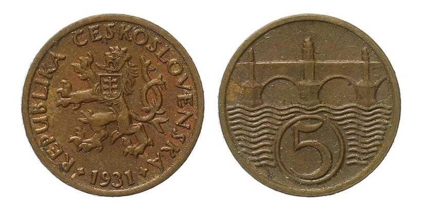 5 haléř 1931