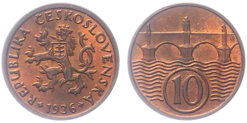 10 haléř 1936