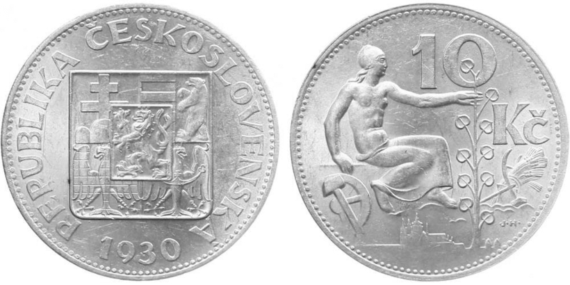 10 koruna 1930