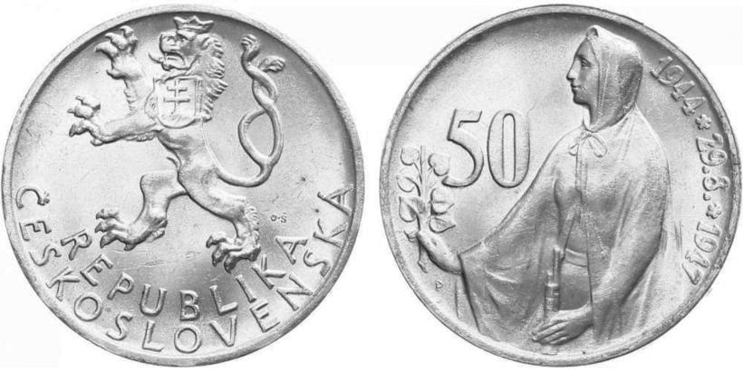 50 koruna 1947 - 3. výročí SNP