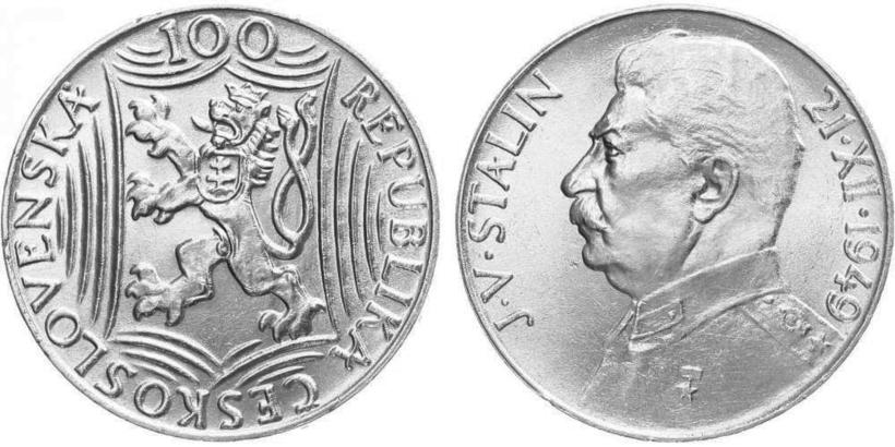 100 koruna 1949 - 70. výročí narození Josefa Visarijnoviče Stalina