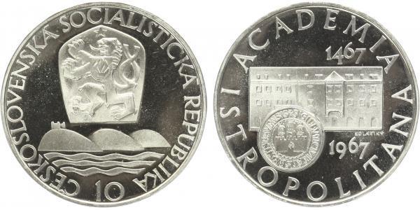 10 Koruna 1967 - Akademia Istropolitana, PROOF