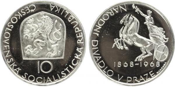 10 Koruna 1968 - Národní divadlo v Praze, PROOF