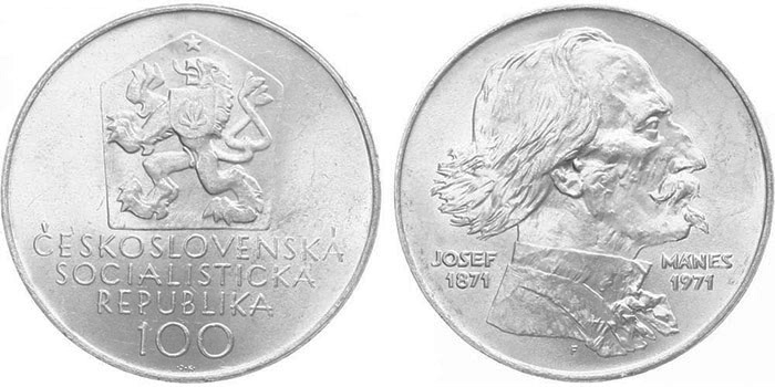 100 Koruna 1971 - Josef Mánes