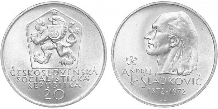 20 Koruna 1972 - Andrej Sládkovič