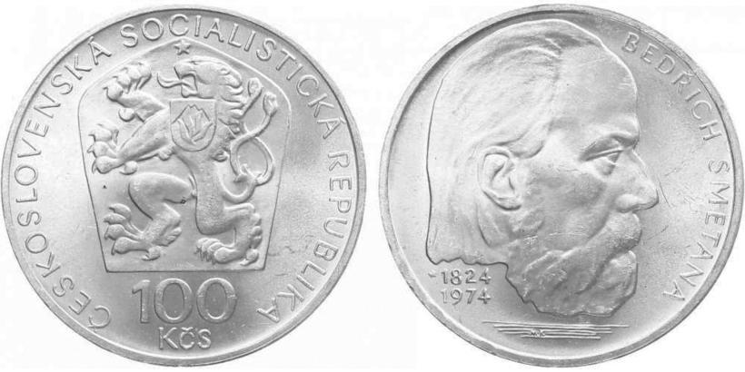 100 Koruna 1974 - Bedřich Smetana